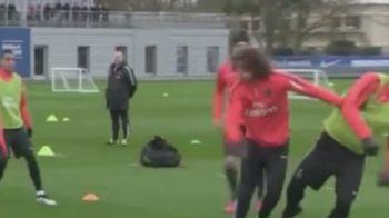 Zlatan, facut KO pe teren de David Luiz. Faza zilei la antrenamentul lui PSG. Ce s-a intamplat. VIDEO