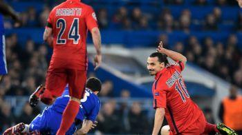 Ibra n-a scapat de suspendare | Eliminat GRATUIT cu Chelsea, Zlatan nu va putea juca in primul meci din sferturile Ligii!