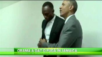 Barack Obama, aparitie absolut fabuloasa alaturi de Usain Bolt! Unul dintre cei mai puternici oameni din lume, alaturi de cel mai rapid :)
