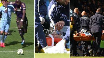 SCENE DE COSMAR in Anglia! David Silva a fost facut KO si a iesit de pe teren pe targa cu masca de oxigen pe fata! Ce a patit FOTO