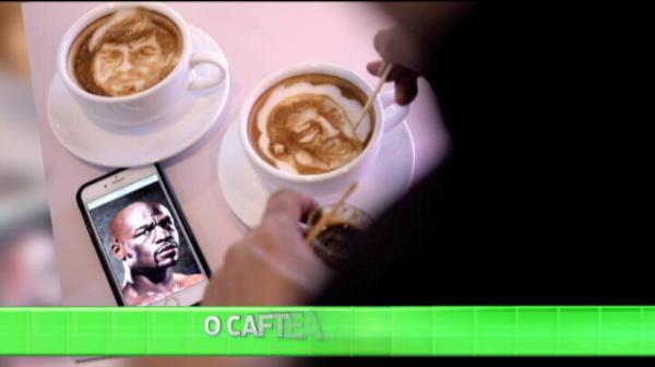Impresionant: Mayweather si Pacquiao, desenati in cesti de cafea de un roman talentat din Bucuresti! VIDEO