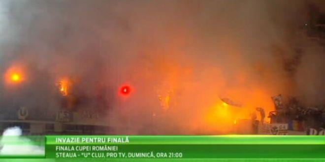 Se anunta SHOW TOTAL pe National Arena pentru meciul Stelei cu U Cluj! Alianta U Cluj - Dinamo aduce 5000 de oameni