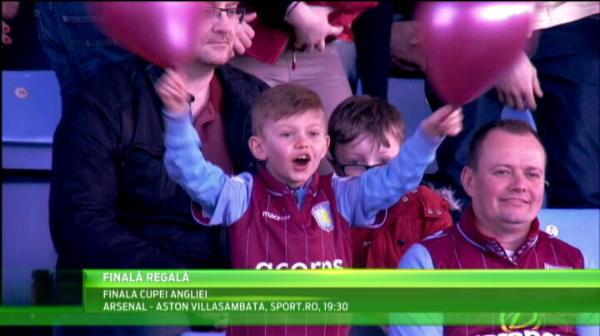 Aparitie spectaculoasa la Finala Cupei Angliei, Arsenal - Aston Villa, sambata la 19:30 la Sport.ro! Cine vine in tribune