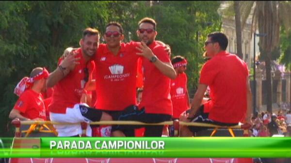 Imagini senzationale de la petrecerea Sevillei dupa ce a castigat Europa League! Tot orasul a iesit in strada. VIDEO
