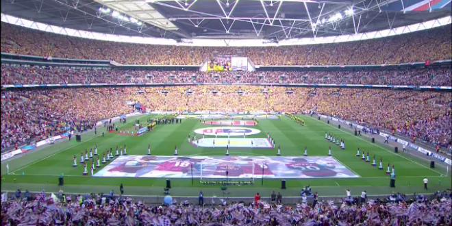 Fotbalul nu a fost niciodata mai spectaculos! Imagini SENZATIONALE de pe Wembley la finala Cupei Angliei! Cum a inceput meciul