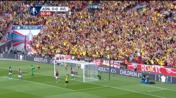 ARSENAL 1-0 ASTON VILLA. Walcott deschide scorul in finala Cupei Angliei