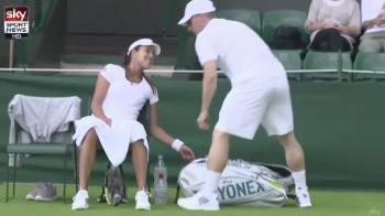 Si-a adus iubitul pe teren. Cum a fost surprinsa Ana Ivanovic la Wimbledon