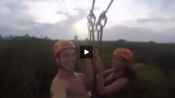 Gardos, inca o nebunie dupa ce a inotat cu delfinii: si-a luat prietena la o plimbare in tiroliana prin muntii din Mexic VIDEO