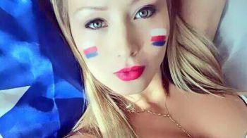 A promis ca se dezbraca si a FACUT-O! Cel mai sexy cadou pentru chilieni dupa castigarea Copa America! FOTO