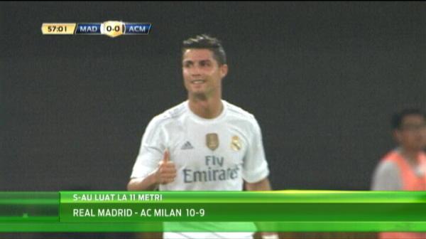 NEBUNIE la penalty-uri intre Real si Milan! Un pusti de 16 ani a decis meciul. Ce s-a intamplat