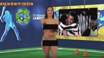 Telespectatorilor nu le-a venit sa creada! O prezentatoare s-a dezbracat in timp ce vorbea despre Pirlo la TV