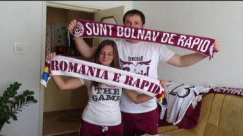 Rochia de mireasa va fi alb-visinie, invitatiile identice cu biletele la meci, iar Pancu pe post de cavaler de onoare :). Doi fani rapidisti vor avea parte de o nunta cu totul speciala: VIDEO