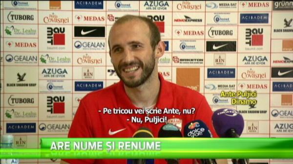 Dinamo joaca fotbalul cu zambetul pe buze in Romania. Dinamovistii rad de numele ultimului sosit la echipa.