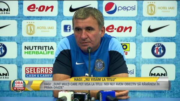 """""""Ma gandesc doar la meciul cu Steaua, vreau victoria"""". Hagi, despre cel mai important test din acest sezon. """"Regele"""" nu crede insa ca echipa lui se poate bate la titlu"""