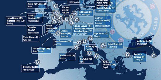 Harta celor 33 de jucatori imprastiati de Chelsea prin Europa in aceasta vara. Unde e Manea, pustiul cumparat pe 3 mil euro
