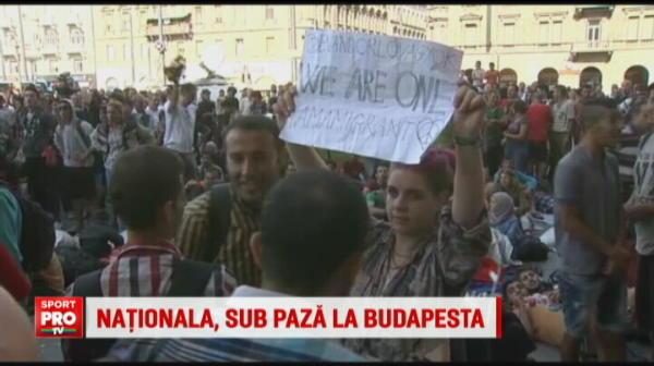 Nationala a fost scoasa prin spate la Budapesta. Ungurii au vrut sa evite orice incident.
