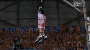 Pedepse cu inchisoarea dupa derbyul exploziv Marseille - Lyon. Mai multi fani, condamnati cu executare dupa meciul in care Valbuena a fost spanzurat pe Velodrome