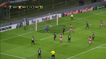 Moment senzational in Europa League! Mingea a lovit de DOUA ori transversala la acelasi sut! Cum a fost posibil