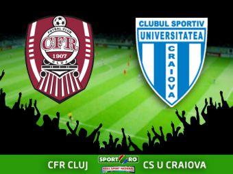CFR CLUJ 1-2 CSU CRAIOVA! Soc la Cluj! CFR a fost invinsa in prelungiri dupa ce a ratat INCREDIBIL! AICI ai fazele meciului