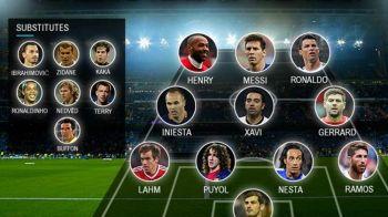 Ronaldinho, Zlatan si Zidane sunt OUT! Cum arata cel mai bun 11 din istoria Champions League