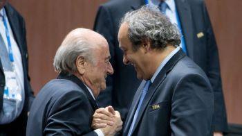CUTREMUR TOTAL! Blatter si Platini au fost suspendati DIN FOTBAL pentru 8 ani de FIFA