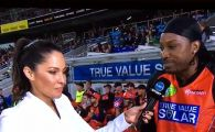 VIDEO SENZATIONAL! Ea s-a dus sa-i ia interviu inainte de meci, el a chemat-o la o intalnire in oras! Cum se termina dialogul