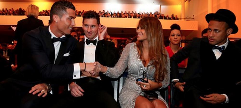 Imaginea serii la gala Balonului de Aur! Cristiano Ronaldo a salutat-o pe iubita lui Messi, reactia lui Neymar este DE NEPRETUIT! FOTO