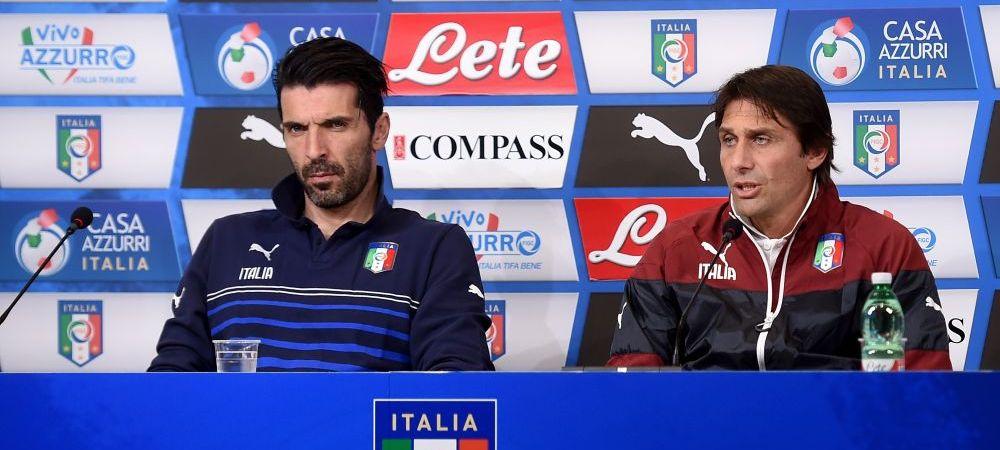 Absenta lui Buffon, motivul de revolta. Ce scriu italienii dupa ce Conte si capitanul nationalei au refuzat sa voteze pentru Balonul de Aur