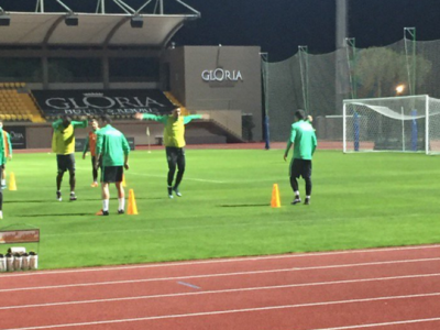 FOTO | Ciprian Marica, la primul antrenament cu Steaua: atacantul a intrat in programul echipei, dupa ce a facut vizita medicala