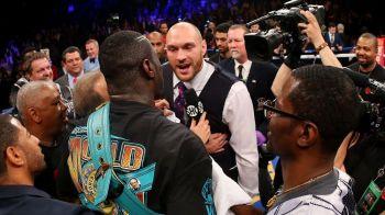 Furios si iute la manie. Tyson Fury a intrat in ring dupe ce Deontay Wilder si-a pastrat centura mondiala cu un KO | FOTO