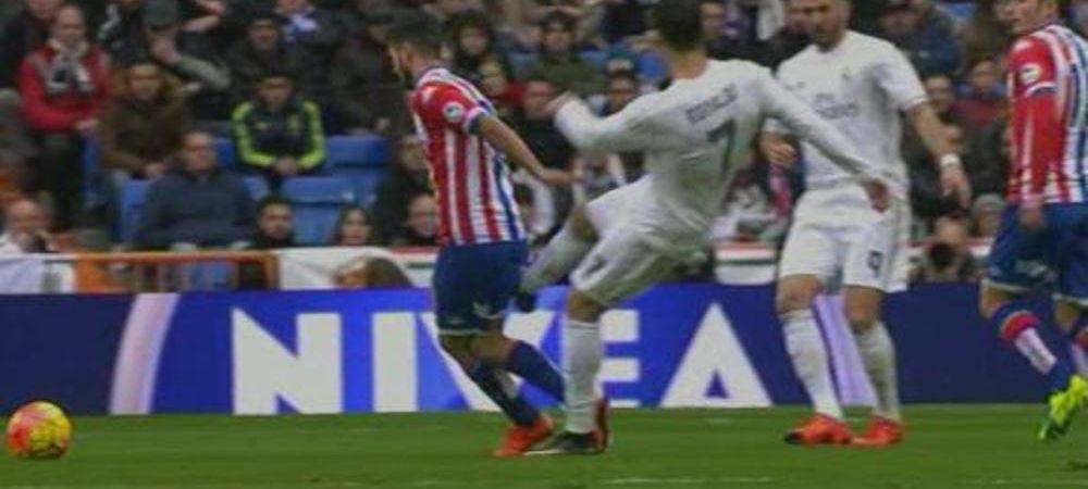 Gestul golanesc facut de Cristiano Ronaldo pe teren la ultimul meci! A scapat de eliminare dupa ce si-a lovit un adversar fara minge. VIDEO
