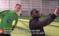 Hart vs. Hart   Momente nebune la antrenamentul lui Manchester City: portarul Joe Hart s-a intalnit cu actorul Kevin Hart