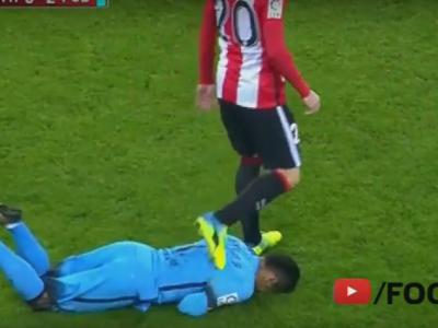 """Aduriz, dupa ce l-a calcat pe spate pe Neymar: """"Nu-mi place atitudinea lui!"""" Cel mai fierbinte moment al meciului VIDEO"""