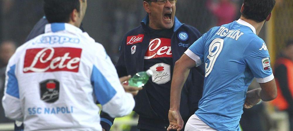 """Antrenorul lui Chiriches a scapat usor: amenintat cu minimum 4 luni de suspendare pentru ca l-a numit """"homosexual"""" pe Mancini, Sarri si-a aflat pedeapsa"""