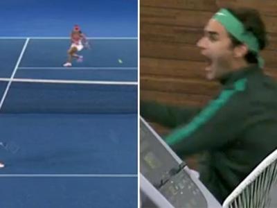 Faza care l-a facut pe Federer sa sara de pe scaun! Schimb FABULOS intre Sharapova si Davis: raliu de 27 de lovituri! VIDEO