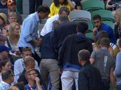 Ana Ivanovic, in stare de soc! Antrenorul ei a cazut in timpul meciului cu Keys! Ana a pierdut dupa reluarea meciului