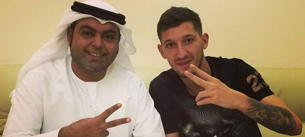 Debut de senzatie pentru Mihai Costea in Emirate! A dat trei goluri si doua pase decisive la primul meci