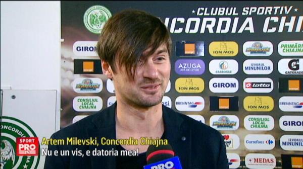 'Totul e foarte bine aici: stadionul, bucataria...' Primele declaratii date de Milevski dupa ce a semnat cu Chiajna