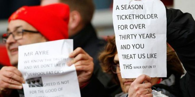Au dat de munti de bani, au uitat de suporteri! Moment unic pe Anfield: fanii au protestat dupa ce clubul a anuntat noile preturi la bilete:  Lacomi nemernici, ne-a ajuns!