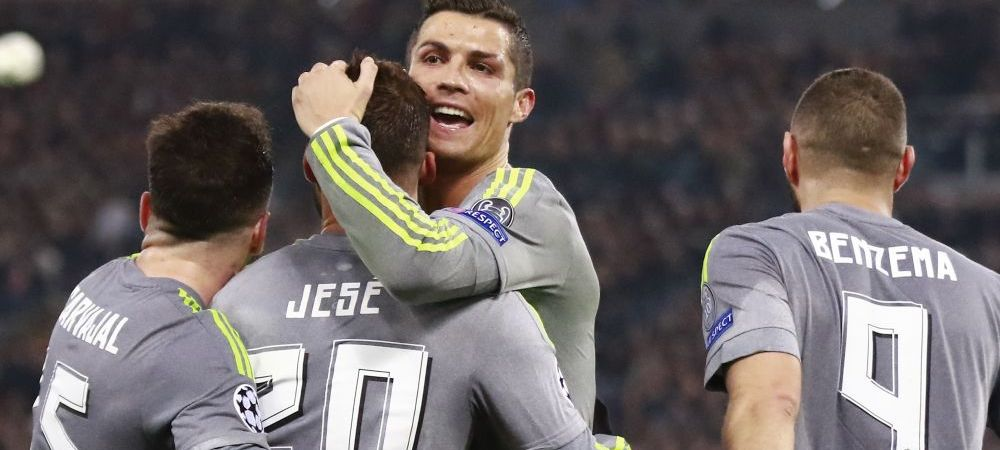 Seara de 2 solist in Champions League. Ronaldo a marcat in Roma 0-2 Real Madrid. Gent, aproape de revenire in 2-3 cu Wolfsburg. REZUMATELE VIDEO