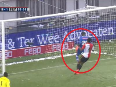 High Olanda :) Ratarea sezonului, la ultimul meci al lui Feyenoord: un jucator a reusit sa nu dea gol de la 1 centimetru de poarta! VIDEO