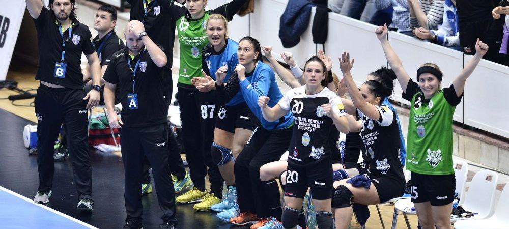 CALIFICARE! CSM Bucuresti ajunge in sferturile Ligii Campionilor, dupa 28-23 Midtjylland