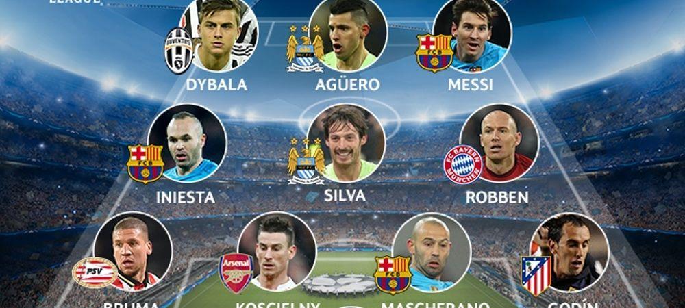 Iniesta, Messi, Robben si Aguero in aceeasi echipa! Cum arata cel mai bun 11 UEFA al saptamanii in Champions League