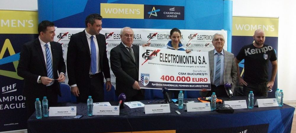 Lovitura data de CSM Bucuresti inaintea sferturilor Ligii Campionilor: a semnat unul dintre cele mai mari contracte de sponsorizare din sportul romanesc