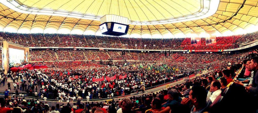 """""""Nimeni la meci!"""" National Arena a ajuns sa gazduiasca doar cel mai plictisitor """"derby"""" din Romania: lupta intre partide! Cine il sustine pe primarul care a inghitit cheia de la stadion"""