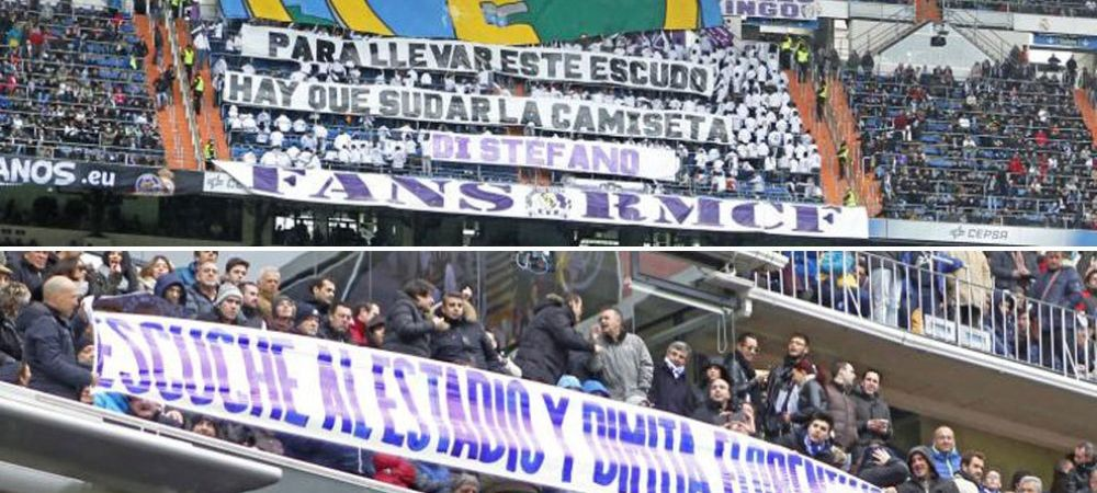 Cristiano Ronaldo a dat 4 goluri, fanii nu au iertat pe nimeni! Bannerele afisate la victoria Realului cu 7-1