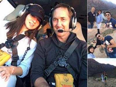 FOTO Halep isi pregateste revenirea la INALTIME! A zburat cu elicopterul peste Marele Canion! Cu ce legende se pregateste in SUA