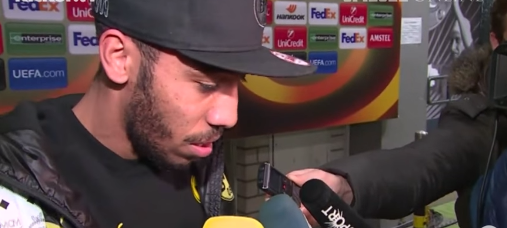 """""""Din vara la Real Madrid?"""" Reactia NECENZURATA a lui Aubameyang dupa ce a primit aceasta intrebare. VIDEO"""