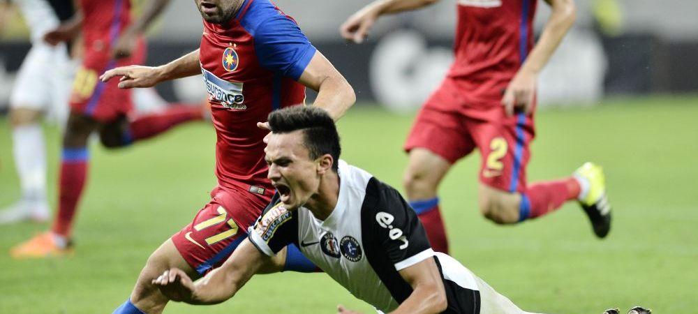 """Centralul """"lucrat"""" de aditional? Viitorul, demolata de arbitri in meciurile cu Steaua. """"Hent clar la Popa! A cam fost penalty"""""""