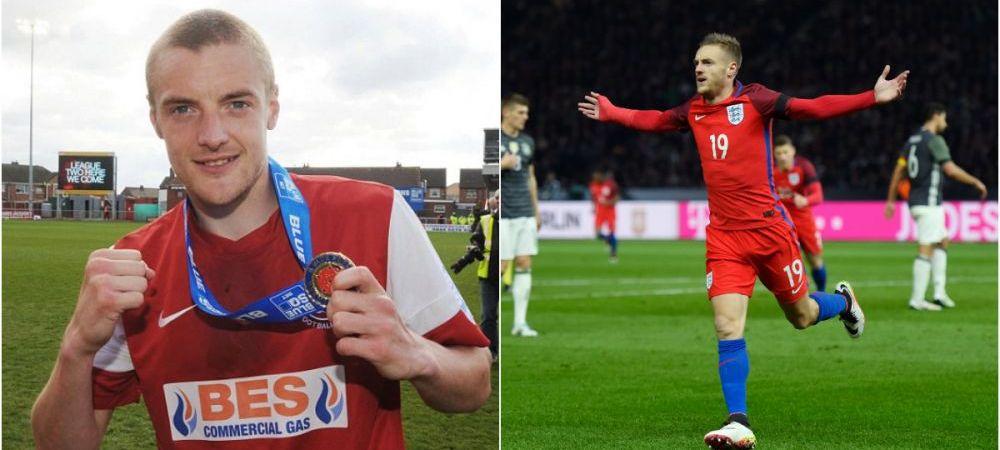 """Vardy, ce poveste! Atacantul """"minune"""" din Premier League a marcat primul gol pentru Anglia la 29 de ani: calcai in poarta lui Neuer"""